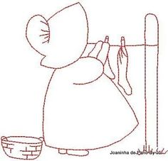 Embroidery Pattern Vintage Sunbonnet Laundry Day from Google. jwt