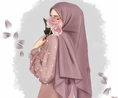 Image in Art ✨ ✨ collection by 𝑁𝑢𝑈𝑟 𝑆𝑎𝑙𝑎ℎ♕ on We Heart It Cute Muslim Couples, Muslim Girls, Cartoon Girl Images, Girl Cartoon, Hijabi Girl, Girl Hijab, Girly M Instagram, Hijab Drawing, Beautiful Girl Drawing