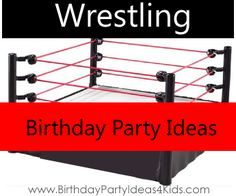 Wrestling birthday party ideas wwe party ideas pinterest wrestling birthday party theme ideas fun ideas for wrestling theme decorations invitations party games and birthday activities filmwisefo