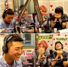 Youngjae fangirling over Yongguk xD