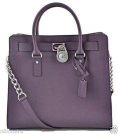 $275.00 Michael Kors Large Hamilton Purple Saffiano Leather Tote + FREE GIFT