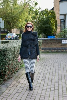 Look of the Day - Checked Trousers & Faux Fur Gilet | Miss Street Chic