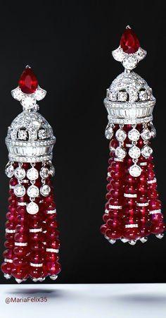 #diamond and #ruby #earrings