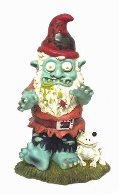Amazon.com : Creepy Halloween Zombie Gnome Garden Statue Sculpture : Patio, Lawn & Garden
