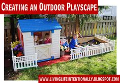 Creating an outdoor playscape- LOVE this!