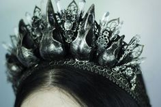Nevermore Crow Crown by HysteriaMachine on Etsy