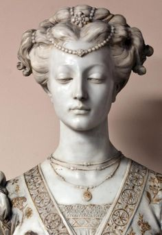 Large marble gilded 19thC French bust