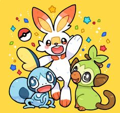 Sobble, Scorbunny y Grookey Nintendo Pokemon, All Pokemon, Cute Pokemon, Pokemon Images, Pokemon Pictures, Human Body Drawing, Video Game Anime, Video Games, Satoshi Tajiri