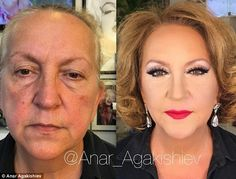 He's back! Make up artist Anar Agakishiev is known for his incredible make up transformations (pictured is one of his latest looks)