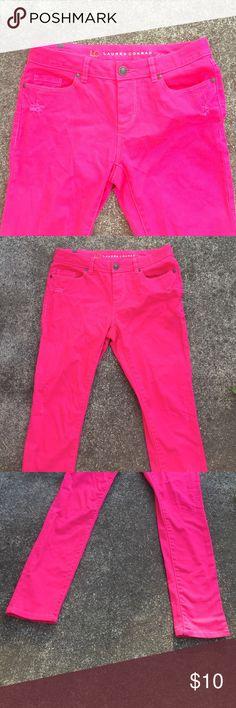 Lauren Conrad Pink Skinny Jeans! Like new! Size 6 Lauren conrad Jeans Skinny