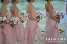 #bridesmaids #bouquet by @Latin Asia Destination wedding decor