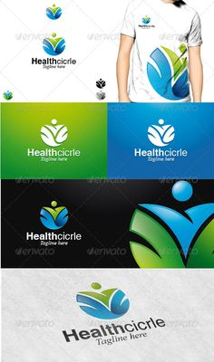 Health Circle Logo  #GraphicRiver         Health Circle Logo is a simple and clean logo, that shows a symbol of human and flower in a circle shape, suitable to any kind of health and welfare companies.   Featured : - Ai CS2 document / EPS CS/font/linotype/helvetica  .fonts /font/monotype-imaging/times-new-roman