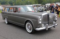1960 Bentley S2 Shooting Brake by Wendler   A 1960 Bentley S2 LWB with a one-off, Mercedes-based, Shooting Brake body by Wendler of Reutlingen. Chassis LLBA9. Seen at the 2014 Lime Rock Concours d'Élegance. This wacky thing was special ordered for an anonymous yachting fan through a New York City middleman, and was originally ordered in grayish blue metallic with reddish orange leather interior. Many body parts are from the contemporary Mercedes-Benz 300SE fintail. A h