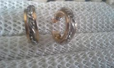 Vintage pierced gold tone and silver toned hoop earrings Pierced Earrings, Hoop Earrings, Wedding Rings, Engagement Rings, Silver, Gold, Ebay, Vintage, Jewelry