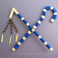 Crook and Flail - Egyptian Halloween Costume Accessory