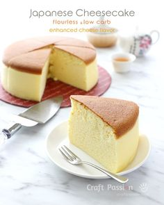 Perfect gluten-free, keto & low carb Japanese Cheesecake, still as fluffy, jiggly & tasty, with a bit enhanced cheese flavor. Recipe with photos and videos Baking Recipes, Keto Recipes, Dessert Recipes, Free Recipes, Healthy Recipes, Dinner Recipes, Easy Recipes, Fudge, Dessert Restaurant