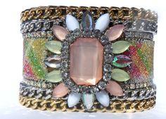 Pastel Pendant Encrusted Swarovski Crystals Clear by JanaJewelry, $75.00