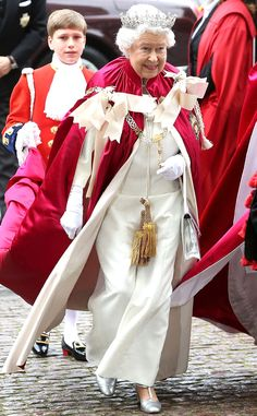 2014 Her Royal Highness attended the Service of the Order of Bath at Westminster Abbey in red-and-white royal garb.