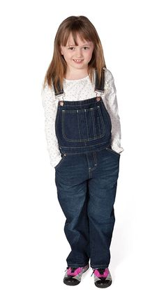 Uskees - Girls Dungarees - Darkwash Girls Denim Dungarees Kids Bib Overalls USK.KD03.G Denim Dungarees, Denim Overalls, My Little Girl, My Girl, Jeans Rock, Girls Show, Girl Face, Kids Outfits, Trousers