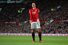Zlatan Ibrahimovic of Manchester United reacts during the Premier League match between Manchester United and Sunderland at Old Trafford on December...
