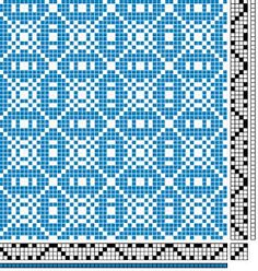 Tiles. 4 shaft 6 treadle. Might make a good boundweave threading to play with.