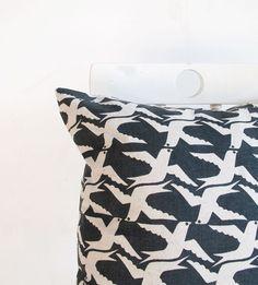 Cushion cover 40x40cm   Cloudbirds in blackboard by skinnylaminx, $32.60