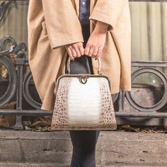 e54ff4e35c6 A simple touch of glamour in shade Matte Natural. KWANPEN - Classic Handbag  http