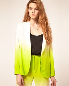 FLARE pick: ASOS neon ombré blazer, $87