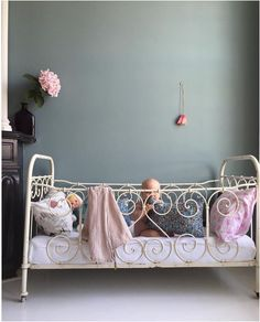 Nursery with a vintage cribe
