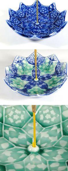 Lotus Bloom Incense Burner - Ceramic Incense Holder - Heart Chakra Meditation Aid - Japanese Incense Holder - Mandala - Sacred Geometry #PaidAd, #ad, #affiliatelink #incense #meditation #meditationroom #decoration #BarchilonCeramics