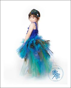 Peacock tutu dress, an adult version could be cute!