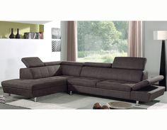 Canapé d'angle gauche marron en PU DURAM