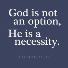 God is not an option.