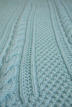 Cabled Baby Blanket III ~ FREE - KNIT - pattern can be had at http://verypink.com/2011/01/13/cabled-baby-afghan/