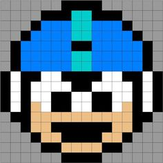 Mega Man pattern by justabitfrayed (quilt, blanket, pillow, cross stitch, fuse beads...)
