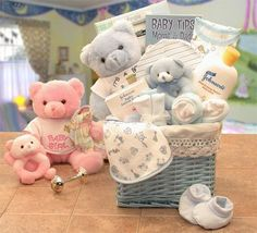 Sweet Baby Of Mine New Baby Basket - Various colors