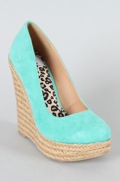 Aqua blue wedge-- I need to find a reason to wear more heels... so I can buy some!!