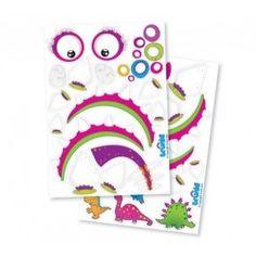 Maak je Trunki nog leuker met de vrolijke Trunki stickers. Plak er reisbestemmingen of grappige gezichtjes op en maak de Trunki Koffer zoals je die zelf wilt.