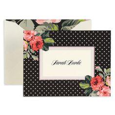 Black Grace Foldover Note Cards