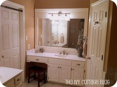Remodelaholic | Neutral Master Bathroom Remodel