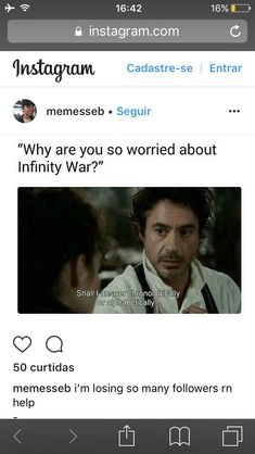 Avengers Infinity War aka The End of Everything, need I go on?