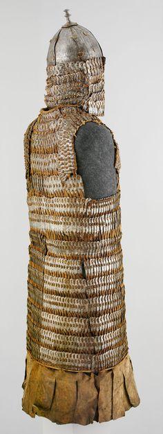 Lamellar Armor (Byang Bui Khrab) and Helmet Lamellar Armor, Chinese Armor, Metropolitan Museum, Art History, Wicker, Helmet, Tibet, Scale, Leather
