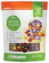 Candy Coated Milk Chocolate Drops - Simple Truth #GotItFree