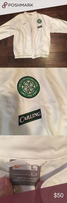 Celtic fc football club men's white jacket large Super soft material! Support your favorite team with this awesome white jacket! Nike Jackets & Coats