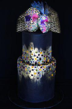 Mardi Gras Carnival collaboration cake by Anastasia Kaliazin