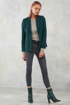 Zümrüt Yeşili Kadın Ceket MLWAW17GV4780