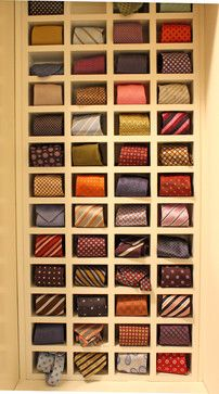 neck tie storage betwwen studs | Tie Cubbies Design Ideas, Pictures, Remodel, and Decor