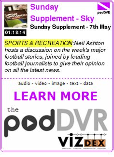 #SPORTS #PODCAST  Sunday Supplement - Sky Sports    Sunday Supplement - 7th May    READ:  https://podDVR.COM/?c=f8c0910c-37d1-b532-f48a-bf8a2b67b6dd
