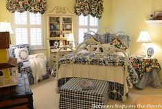 Blue and White Decor Ideas Best Of Decoupage A Pumpkin to Coordinate with A Room S Design or Deccor Country Living Knock Off Guest Room Decor, Bedroom Decor, Bedroom Ideas, Bedroom Bed, Bedroom Designs, Bedroom Inspiration, Dream Bedroom, Bedroom Furniture, Decorating Your Home