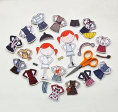 Clara Paper Doll, Dress-up Clothes  - The Deluxe Set